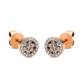 Diamant Ohrstecker 0,29 ct Rotgold 750