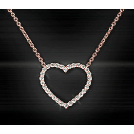 Herz Diamant Collier 0,50 ct Rotgold 750