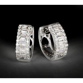 Diamant Creolen 0,49 ct Weißgold 750