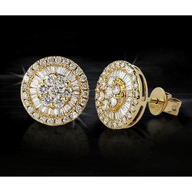Diamant Ohrstecker 0,57 ct Gelbgold 750