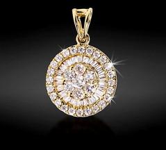 Artikel mit Schlagwort Diamant Anhänger Gelbgold 750
