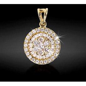 Diamant Anhänger 0,44 ct Gelbgold 750
