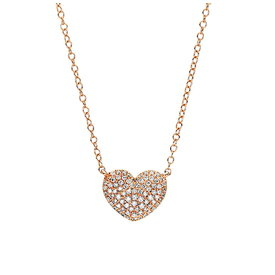 Herz Diamant Collier 0,19 ct Rotgold 750