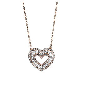 Herz Diamant Collier 0,97 ct Rotgold 750