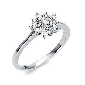 Diamantring 0,51 ct Weißgold 750