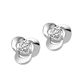 Solitär Diamant Ohrstecker 0,24 ct Weißgold 585