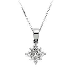 Artikel mit Schlagwort Solitär Diamant Collier Weißgold