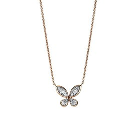 Diamant Collier Schmetterling 0,26 ct Rotgold 750