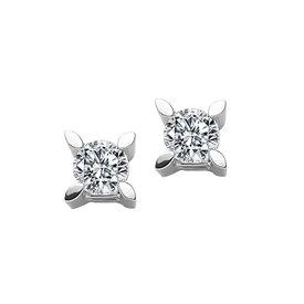 Solitär Diamant Ohrstecker 0,46 ct Weißgold 585