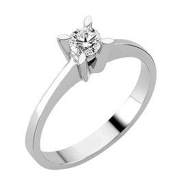 Solitär Diamantring 0,30 ct Weißgold 585