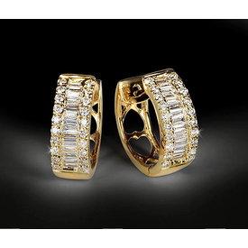 Diamant Creolen 0,43 ct Gelbgold 750