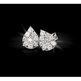 Diamant Ohrstecker 1,22 ct Weißgold 750