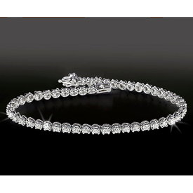 Diamant Tennis Armband 2,28 ct Weißgold 750