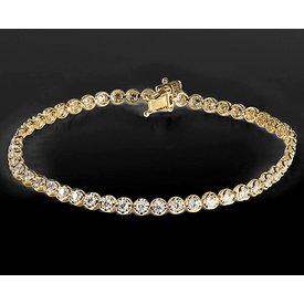 Diamant Tennis Armband 2,16 ct Gelbgold 750