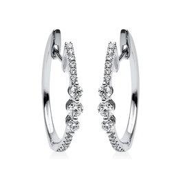 Diamant Creolen 0,34 ct Weißgold 585