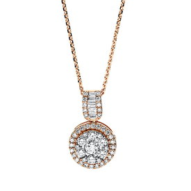 Diamant Collier 0,60 ct Rotgold 750