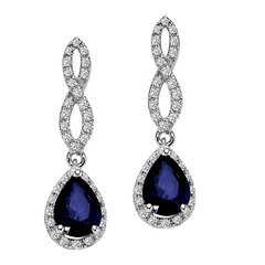Artikel mit Schlagwort Saphir Diamant Ohrringe Weißgold
