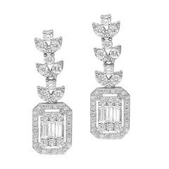 Artikel mit Schlagwort Baguette Diamant Ohrhänger Weißgold