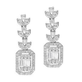 Baguette Diamant Ohrringe, Ohrhänger 1,04 ct Weißgold 585