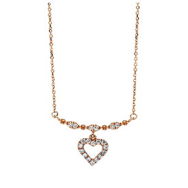 Diamant Herz Collier 0,19 ct Rotgold 750