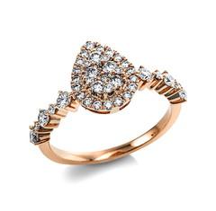 Diamantringe aus Gelbgold, Weißgold, Rotgold und Silber