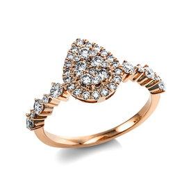 Diamantring 0,77 ct Rotgold 585