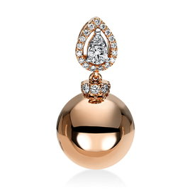 Diamant Anhänger 0,14 ct Rotgold 750