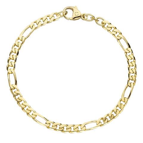 Figaro-Armband 4,4 mm Gelbgold 585