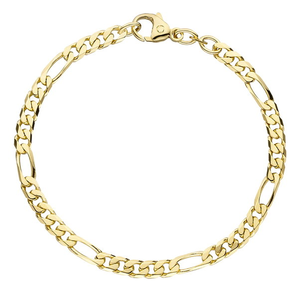 Figaro-Armband 4,4 mm aus 585er Gelbgold