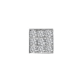 Diamant Karree Herren Ohrstecker 0,32 ct Weißgold 585