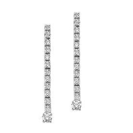 Diamant Tennis Ohrringe, Ohrhänger 0,35 ct Weißgold 750