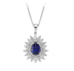 Artikel mit Schlagwort Saphir Diamant Collier Weißgold