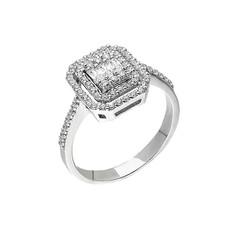 Artikel mit Schlagwort Baguette Diamantring Weißgold 585