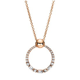 Diamant Collier Circle 0,23 ct Rotgold 750
