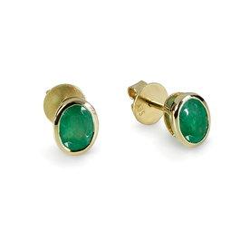 Smaragd Ohrstecker Gelbgold 585
