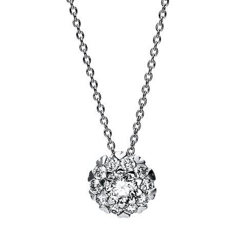 Diamant Collier 0,43 ct Weißgold 750