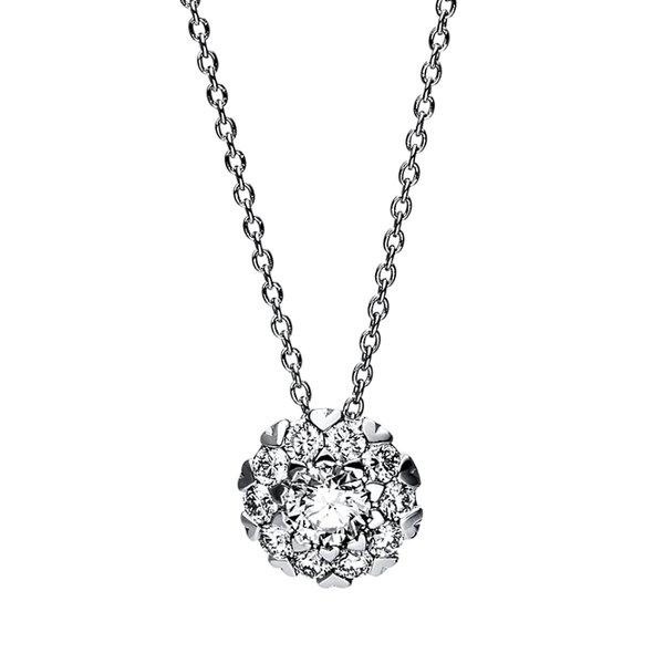 Diamant Collier 0,43 ct aus 750er Weißgold