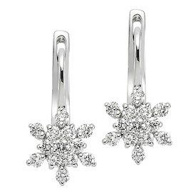 Diamant Ohrringe 0,62 ct Weißgold 750