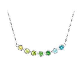Zirkonia Collier Multicolor Silber 925