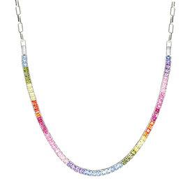 Zirkonia Collier Rainbow Silber 925