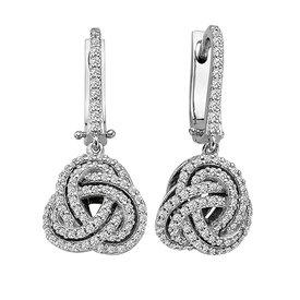 Diamant Ohrringe 0,70 ct Weißgold 585