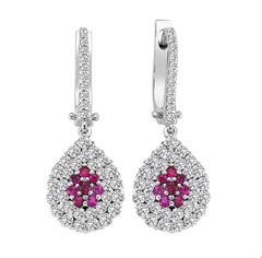 Artikel mit Schlagwort Rubin Diamant Ohrringe Weißgold 750