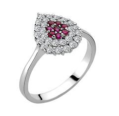 Artikel mit Schlagwort Rubin Diamant Ring Weißgold 585