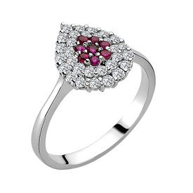 Rubin Diamant Ring Weißgold 585