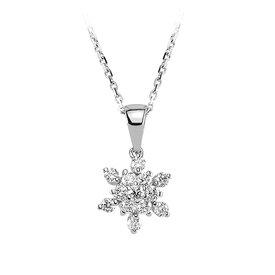 Diamant Collier 0,37 ct Weißgold 585