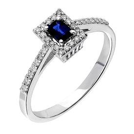 Saphir Diamant Ring Weißgold 585
