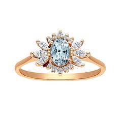 Artikel mit Schlagwort Aquamarin Diamant Ring Rotgold