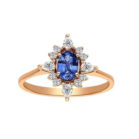Saphir Diamant Ring Rotgold 585