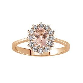 Morganit Diamant Ring Rotgold 585
