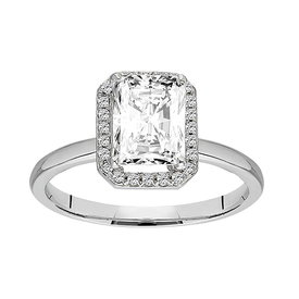 Weißer Saphir Diamant Ring Weißgold 585